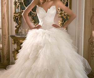 dress, wedding, and party dresses image