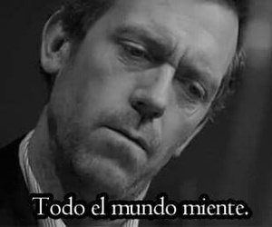 lies, text, and dr house image