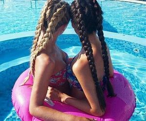 bikini, girls, and summer image