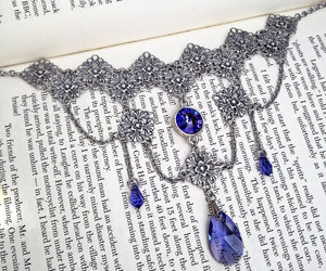 crystal necklace, etsy, and gothic jewelry image