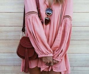 pink, boho, and fashion image