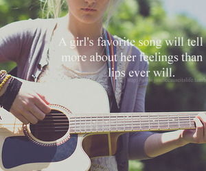 girl, quote, and song image