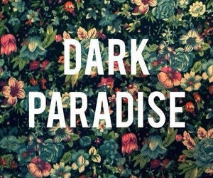 paradise, flowers, and dark image