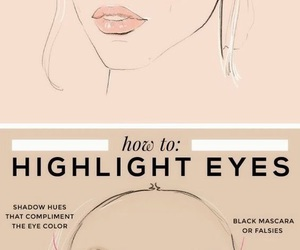 beauty, eyes, and highlight image