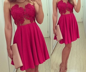dress, Prom, and red prom dress image