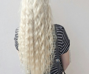 beauty, blonde hair, and hair image
