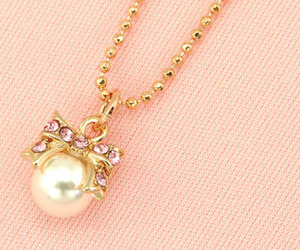 pearls, bow, and necklace image