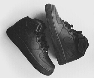 black, nike, and air force image