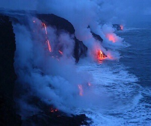 ocean, Hot, and lava image