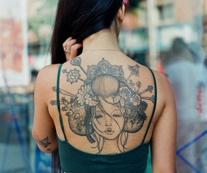 tattoo and geisha image