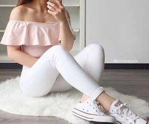 converse, white, and fashion image