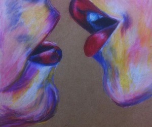 drawing, kiss, and colors image