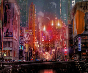 aesthetic, asia, and blade runner image
