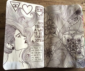 wreck this journal, art, and drawing image