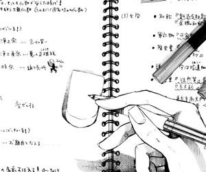 manga, anime, and black and white image