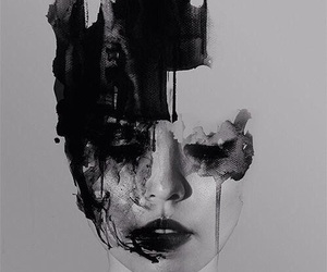 art, black, and black and white image