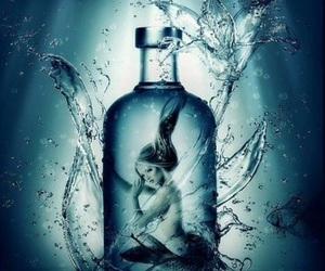 art, blue, and bottle image