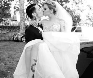 juliet simms, andy biersack, and wedding image
