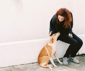 girl and dog image