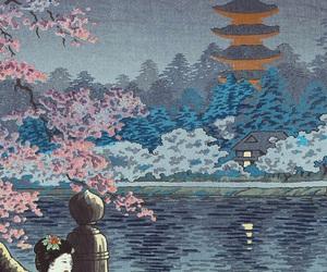 art, japanese, and ukiyoe image