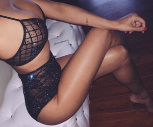 body, sexy, and black image