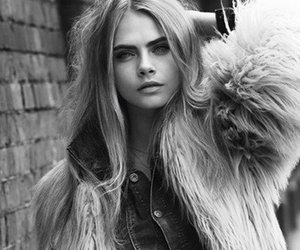 black & white, girl, and cara delevigne image