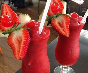 strawberry, drink, and food image