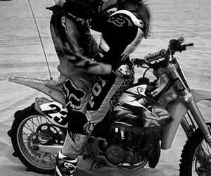 kiss, love, and motorcycle image