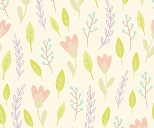 flowers, pattern, and leaves image