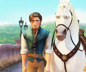tangled, disney, and horse image