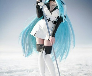 blue, cosplay, and white image