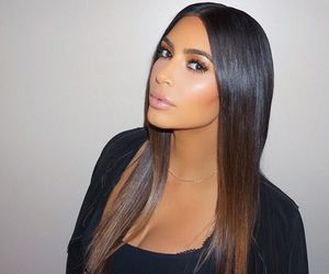 kim kardashian, makeup, and hair image