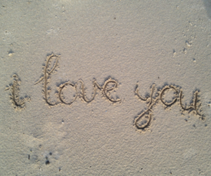 letters, writing, and I Love You image