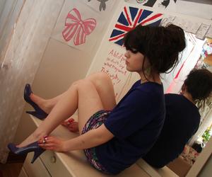 girl, hair, and england image