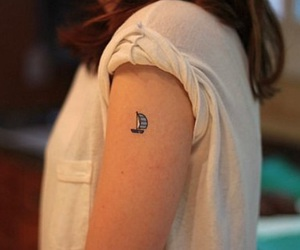tattoo, boat, and small image