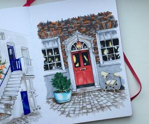bushes, doors, and drawing image