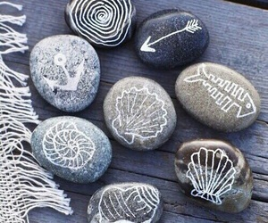 rock, summer, and beach image