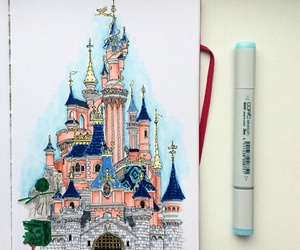 amusement park, disney, and drawing image