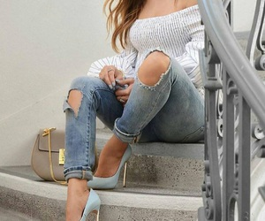 bag, fashion, and jeans image