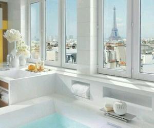 paris, bathroom, and white image