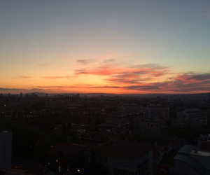 home and sunset image