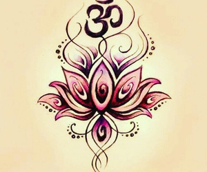 om, lotus, and tattoo image