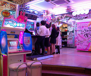 2006, arcade, and blue image