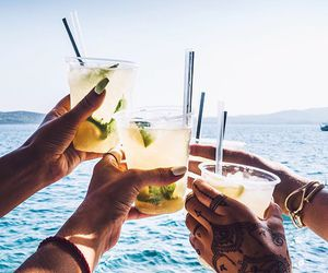 summer, drink, and friends image