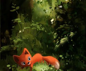 animal, art, and fox image