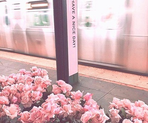 flowers, subway, and beauty image