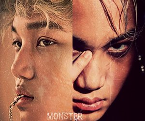 kai, exo, and monster image