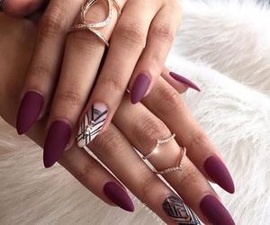 nail art, nails, and red nails image
