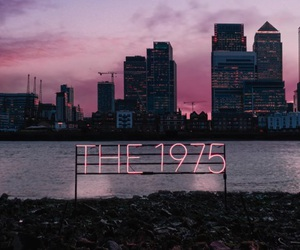 city, the 1975, and pink image