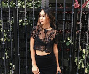 black, all black outfit, and elegant image